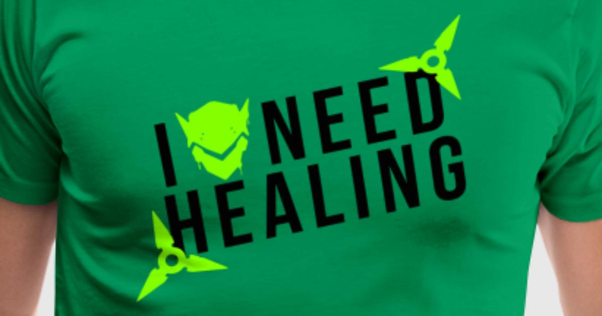 Overwatch Genji I Need Healing Design T Shirt Spreadshirt