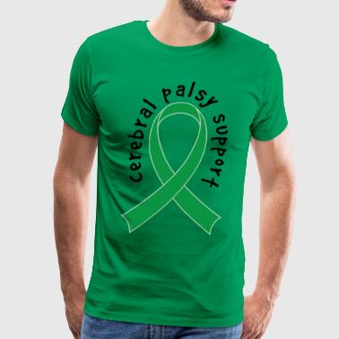 Cerebral Palsy Awareness Support Ribbon - Men's Premium T-Shirt