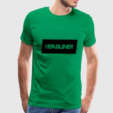 Headlines HEADLINER LOGO TRANSPARENT ON BLACK - Men's Premium T-Shirt