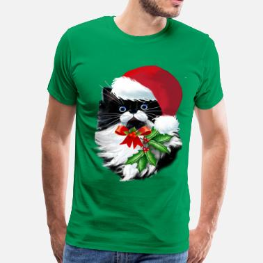 Tuxedo Cats Tuxedo Kitty at Christmas - Men's Premium T-Shirt