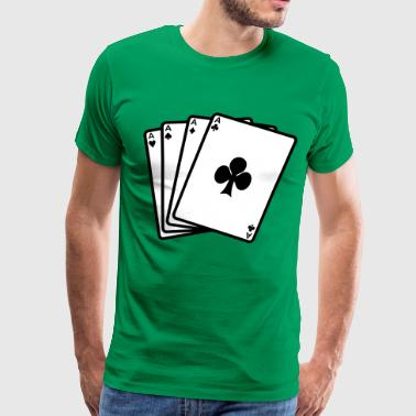 Pocket Aces Poker Aces - Men's Premium T-Shirt