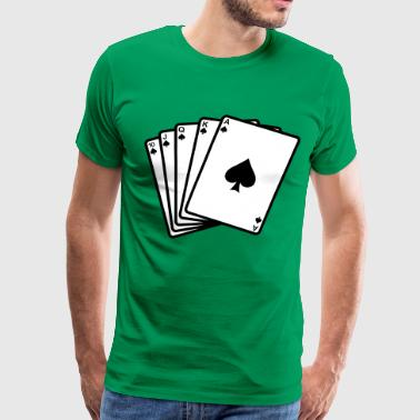 Flash Game Poker Royal Flash - Men's Premium T-Shirt