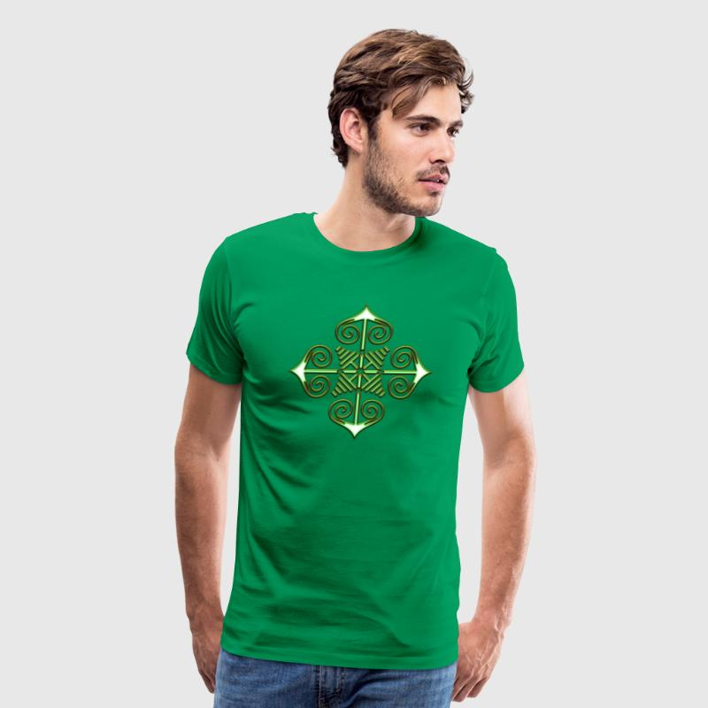 Chaos Star, Symbol of chaos, green / gold, Everything has meaning and magic power! Power symbol, Energy symbol - Men's Premium T-Shirt