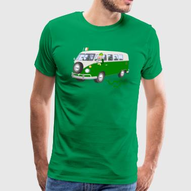 St Patrick Driving The Snakes Out Of Ireland - Men's Premium T-Shirt