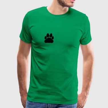 cat footprint - Men's Premium T-Shirt