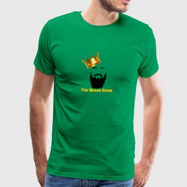 THE BEARD GAME-GOLD - Men's Premium T-Shirt