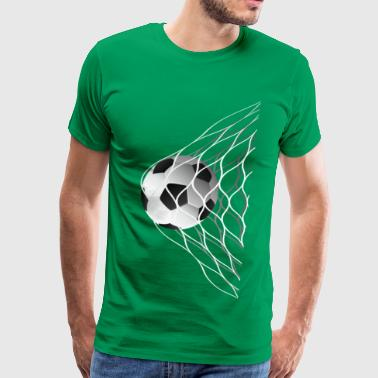 soccer ball in the net - Men's Premium T-Shirt