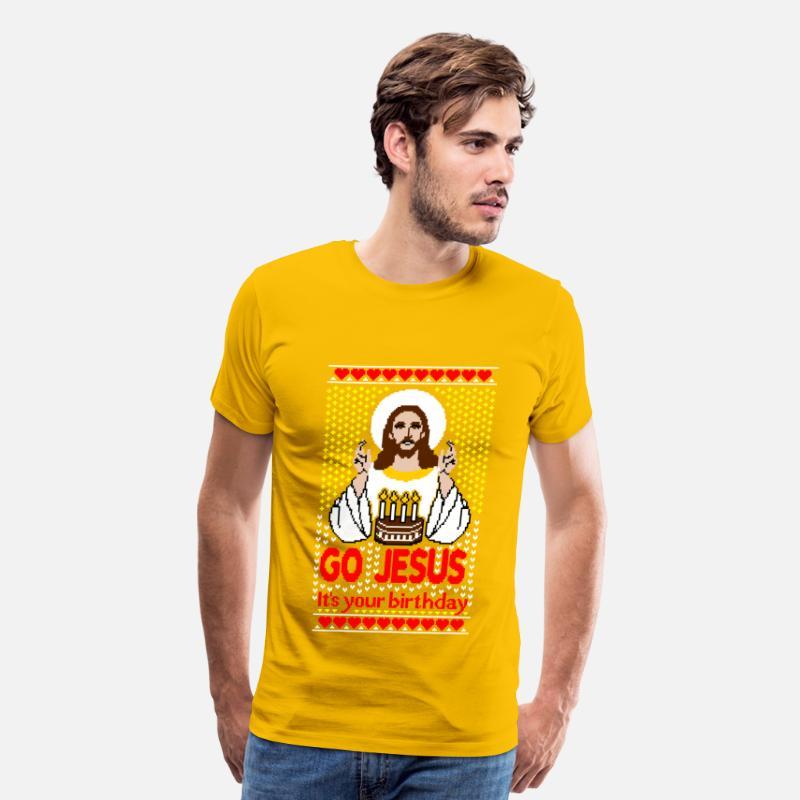 Jesus Birthday Ugly Christmas Sweater by RepresentU | Spreadshirt