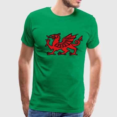 Welsh Dragon - Men's Premium T-Shirt