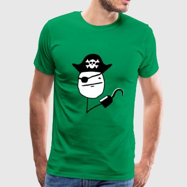 Pirate poker face - internet meme - Men's Premium T-Shirt
