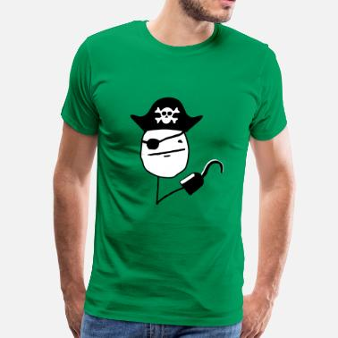 Torrent Pirate poker face - internet meme - Men's Premium T-Shirt