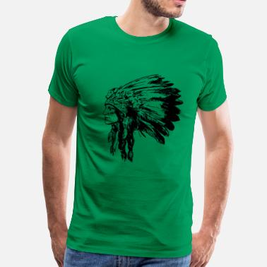 Sacajawea American Native Head - Men's Premium T-Shirt