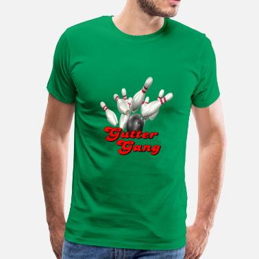 Gutter Bowling League Bowling Team Gutter Gang - Men's Premium T-Shirt