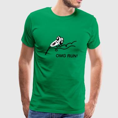 OMG RUN! - internet meme - Men's Premium T-Shirt