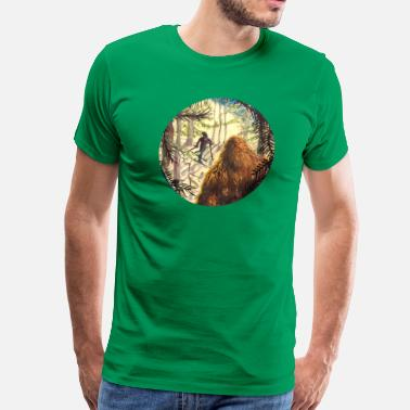 Yowie Woodland Watcher Bigfoot - Men's Premium T-Shirt