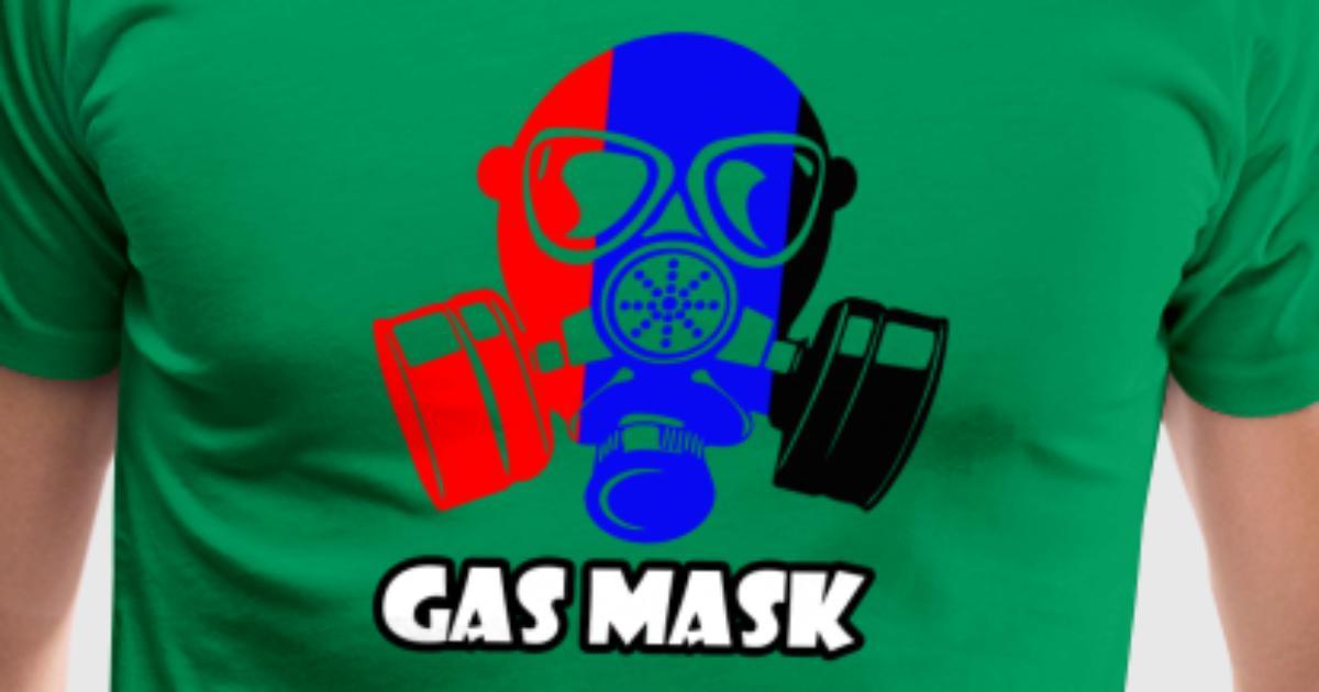 gas mask funny tshirt by wandiyana spreadshirt