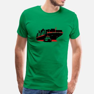Container container ship - Men's Premium T-Shirt