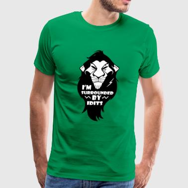 Funny Lion King - Men's Premium T-Shirt