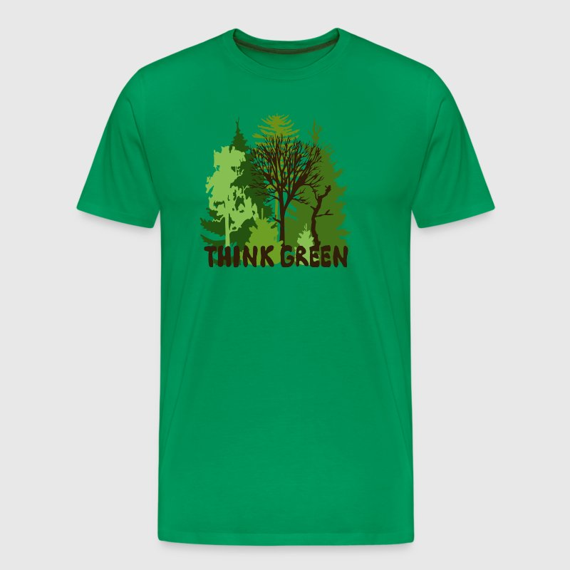 EARTHDAYCONTEST Earth Day Think Green forest trees wilderness mother nature - Men's Premium T-Shirt