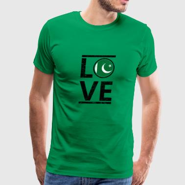 roots love heimat queen herkunft Pakistan - Men's Premium T-Shirt