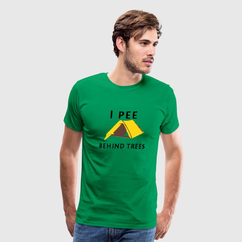 I pee behind trees - Men's Premium T-Shirt
