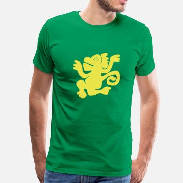 Legends Of The Hidden Temple Green_Monkeys (HQ) - Men's Premium T-Shirt