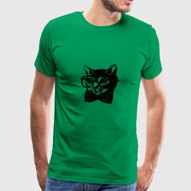 Nerd Cat - Men's Premium T-Shirt