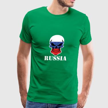 Russian Flag Skull Russia - Men's Premium T-Shirt