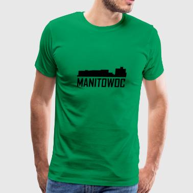 Manitowoc Wisconsin City Skyline - Men's Premium T-Shirt