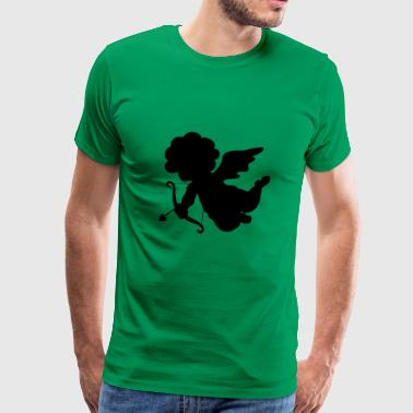 cool-angel-draws-shape-valentines-day-amour - Men's Premium T-Shirt