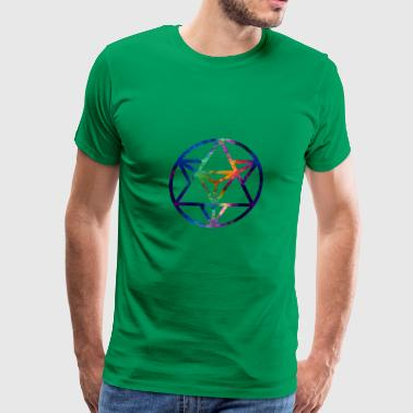 Fractal Sacred Geometry Star Tetrahedro Enlighten - Men's Premium T-Shirt