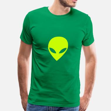 Lime Green alien lime - Men's Premium T-Shirt