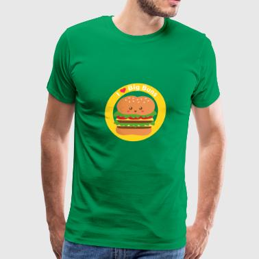 Big Cheese Burger I love big buns, cute cheese burger - Men's Premium T-Shirt