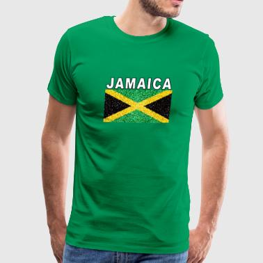 Jamaican Lady Jamaican Flag Deluxe Detailed Jamaica Design - Men's Premium T-Shirt