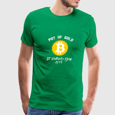 Pot Of Gold St Patricks Day 2018 Bitcoin Crypto - Men's Premium T-Shirt
