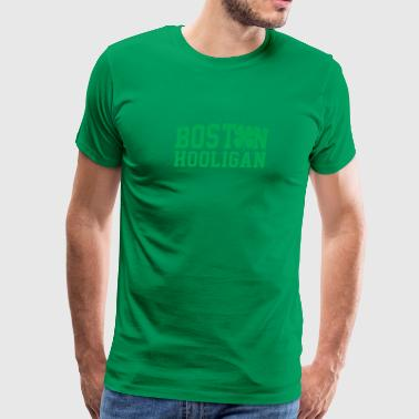 Boston Hooligan Green Shamrock St Patricks Day - Men's Premium T-Shirt