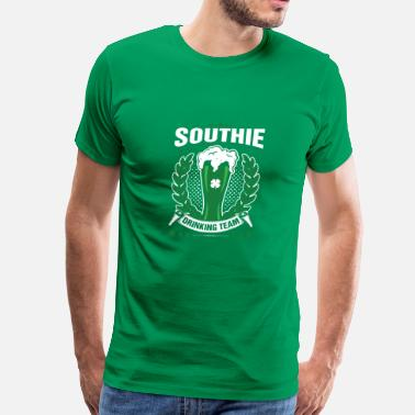 Southie Southie Drinking Team Green Beer St. Patricks Day - Men's Premium T-Shirt