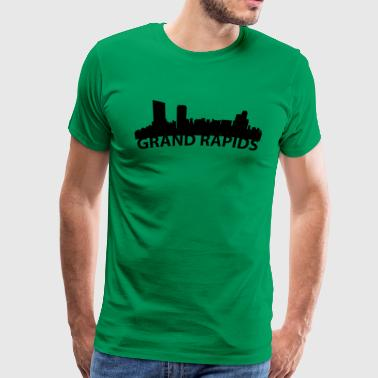 Arc Skyline Of Grand Rapids MI - Men's Premium T-Shirt