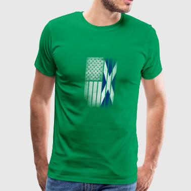 Scottish American Flag Scottish American Flag - Half Scottish Half Americ - Men's Premium T-Shirt