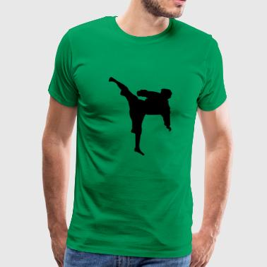 Karate fighter silhouette 4 - Men's Premium T-Shirt