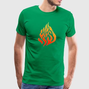 nachman flames fire logo - Men's Premium T-Shirt