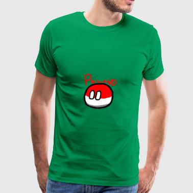 Polandball Polandball - Men's Premium T-Shirt