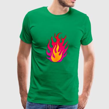 Fire Flames - Men's Premium T-Shirt