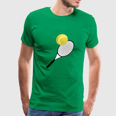 Tennis Ball Tennis Racket - Men's Premium T-Shirt