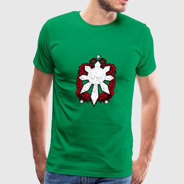 Philippines Emblem. Three Stars and a Sun Design. - Men's Premium T-Shirt