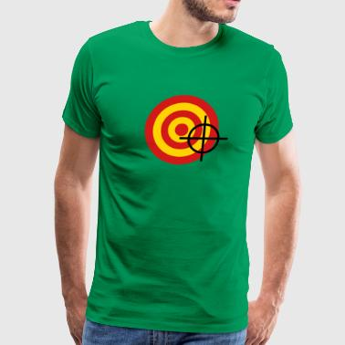 target with a targeting - Men's Premium T-Shirt