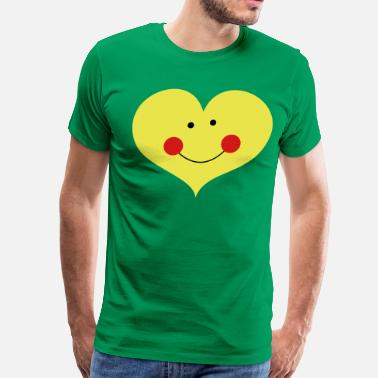 Rosy Cheeks love heart with cute smile and rosy cheeks - Men's Premium T-Shirt
