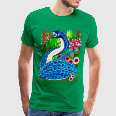 In A Deep Jungle-Snakes - Men's Premium T-Shirt