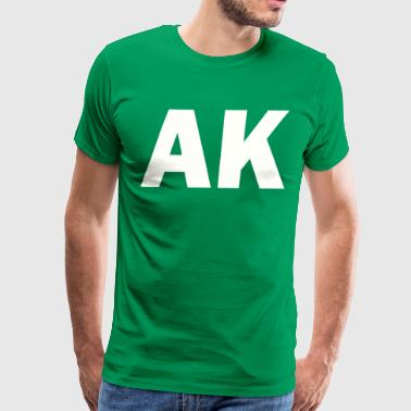 PLACE AND TIME AK WHITE - Men's Premium T-Shirt