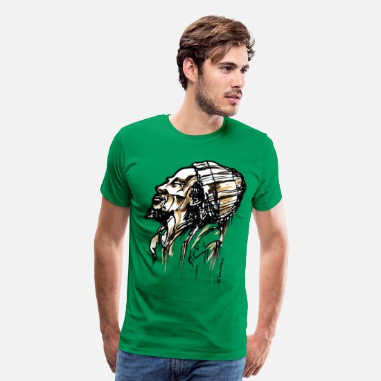 Jamaica T-Shirts - SMILING RASTA - Men's Premium T-Shirt kelly green